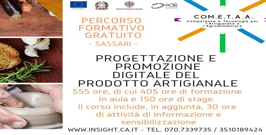 Corsi gratuiti rivolti a disoccupati, inoccupati ed occupati per la progettazione e promozione digitale dei prodotti artigianali - Progetto COM.E.T.A.A a Sassari - Scadenza 15/09/2019