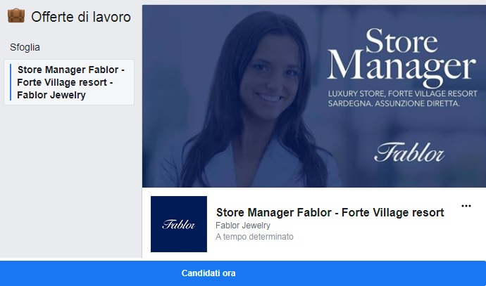 Store Manager Fablor Jewelry - Forte Village Resort (Sardegna)