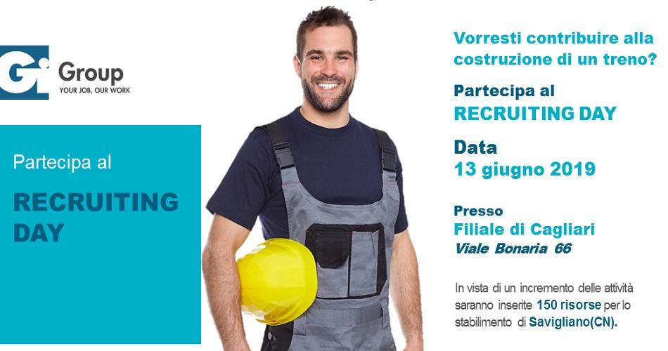 Recruiting Day 13 Giugno a Cagliari - Cercasi 150 risorse per importante cantiere costruzione treno a Savigliano (CN)